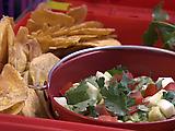 Plantain Chips and Avocado Aji