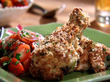 Oven-Fried Chicken Milanese with Tomato-Onion Salad