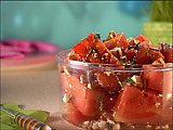 Watermelon with Balsamic and Feta