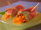 Prosciutto and Carrot Bundles