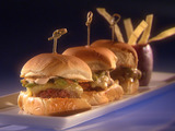 Great American Southwest Sliders with Prickly Pear and Grilled Avocado Salsa
