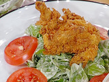 Greens and Fried Quail with Buttermilk Dressing