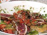 Tuna with Tomato Escabeche