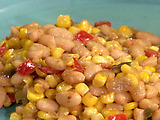 Corn and White Bean Maque Choux