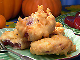 Deep-Fried Cranberry Sauce Fritters