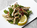 Grilled Calamari with Parsley and Pickled Shallot Salad