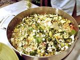 Grilled Zucchini Succotash