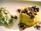 Cheese Souffle with Celeriac, Apple Walnut Salad