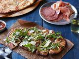 Potato Pizzas with Arugula Salad