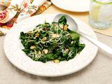 Spinach with Almonds and Red Pepper Flake