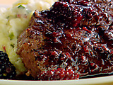 Filet Mignon with Blackberries