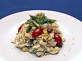 Tradesmen's Tri-Seafood Salad with Basil Parmesan Vinaigrette