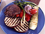 Grilled Portobellos and Summer Vegetables