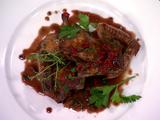 Butterflied Squab with Piquillo Pepper Sauce