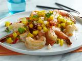 Grilled Shrimp with Mango, Lime and Radish Salsa