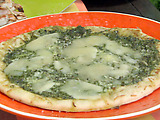 Grilled Flatbread with Asparagus Pesto and Fontina