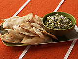 Guacamole with Cumin Dusted Tortillas