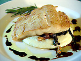Fish with Polenta and Mushrooms: Merluzzo con Polenta e Funghi