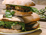 Grilled Chicken Sandwich with Grilled Mushroom Vinaigrette