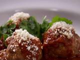 Mexican Meatballs with Red Chile Tomato Sauce and Queso Fresco