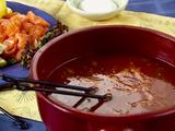 Savory Tomato Shabu Shabu with Seafood Dippers