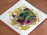 Sixteen Spice Seared Tuna with Mustard Mint Sauce
