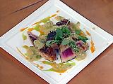 Sixteen Spice Seared Tuna with Mustard Mint Sauce
