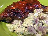 Barbecued Chicken with Bacon Potato Salad