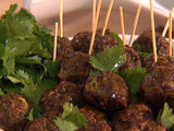 Curry-Scallion Meatballs (with Herbed Yogurt)
