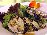 Pesto Mayonnaise Covered Opakapaka Fish