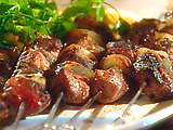 Marinated Lamb Kebabs with a Chile-Yogurt Sauce