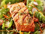 Garlic Grilled Alaska Salmon Salad
