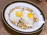 Smoked Salmon Hash with Sunny Side Up Eggs