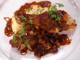 Chicken Chasseur (Hunter-Style Chicken) with Creamy Polenta with Gruyere and Parmesan