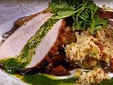 Roasted Pork with Cilantro-Mint Rub