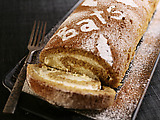 Spiced Caramel Roulade with Ginger Cream
