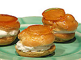Caramel Topped Cream Puffs
