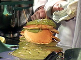 Pancake Cake with Avocado Frosting