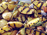 Grilled New Potatoes with Lemon, Garlic, and Rosemary