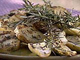 Grilled Yukon Gold Potatoes with Thyme and Garlic