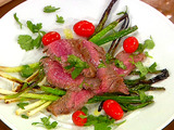 Grilled Flank Steak with Cebollitas (Grilled Green Onions)