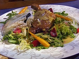Duck Confit with a Salad of Pickled Beets, Carrots and Radishes