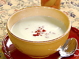 Summer Yogurt Soup with Tomato and Basil