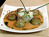 Wasabi Crusted Scallops