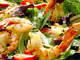 Citrus Grilled Shrimp over Greens