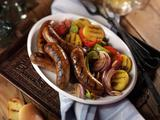 Grilled Italian Sausage with Sweet 'n Sour Peppers