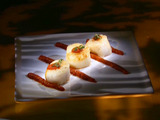 Sauteed Scallops with a Spicy Piquillo Pepper Puree