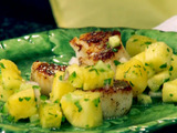 Seared Scallops with Pineapple-Cucumber Salsa