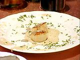 Seared Scallops with a Portobello Mushroom and Truffle Emuslion, Shaved Truffles and Parmigiano-Reggiano Cheese
