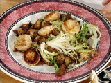 Sauteed Scallops with Wild Mushrooms and Frisee